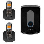 Kit Interfone Porteiro Residencial Intelbras Sem Fio TIS 5010 + 02 Ramais Internos para Atendimento