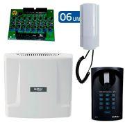 Kit Interfonia Condominial Digital Completo Intelbras Comunic 6 Pontos c/ Porteiro Eletrônico