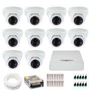 Kit JFL 10 Câmeras Dome HD 720p CHD-1115P + DVR DHD-2116N 1080N + Acessórios