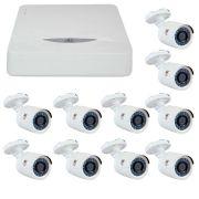 Kit JFL 10 Câmeras HD 720p CHD 1130P + DVR DHD-2116N 1080N + Acessórios