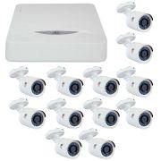 Kit JFL 12 Câmeras HD 720p CHD 1130P + DVR DHD-2116N 1080N + Acessórios