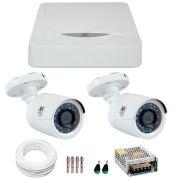 Kit JFL 2 Câmeras HD 720p CHD 1130P + DVR DHD-2104N 1080N + Acessórios