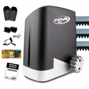 Kit Motor Portão PPA DZ Home 300Kg 1/4 Deslizante Automático de Correr Eletrônico Com Abertura Rápida