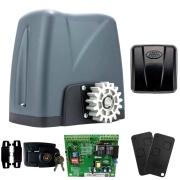 Kit Motor Portão Rossi DZ Nano Turbo 600Kg 1/4 Com Abertura Rápida + 2 Controles + 1 Tx Car - Aciona Portão Através do Farol