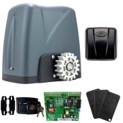 Kit Motor Portão Rossi DZ Nano Turbo 600Kg 1/4 Com Abertura Rápida + 3 Controles + 1 Tx Car - Aciona Portão Através do Farol