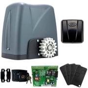 Kit Motor Portão Rossi DZ Nano Turbo 600Kg 1/4 Com Abertura Rápida + 4 Controles + 1 Tx Car - Aciona Portão Através do Farol