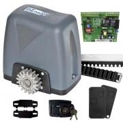 Kit Motor Portão Rossi DZ Nano Turbo 600Kg 1/4 Deslizante Automático de Correr Eletrônico Com Abertura  Rápida