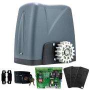 Kit Motor Portão Rossi DZ Nano Turbo 600Kg 1/4 Deslizante Automático de Correr Eletrônico Com Abertura Rápida 3 Controles