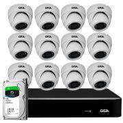 Kit Orion HD 720p 12 Câmeras GS0021 + DVR Giga Security + HD 1TB Skygawk + Acessórios