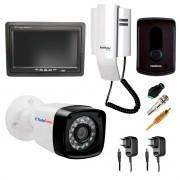 Kit Porteiro Intelbras IPR8010 com 01 Câmera Infra Bullet e Tela Monitor 7 polegadas LCD Colorido