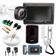 Kit Porteiro Intelbras IPR8010 com 01 Câmera Infra Bullet + Tela Monitor 7