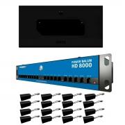 Kit Rack 5U + Power Balun 16Ch HD 8000 Até 5Mp  + Balun Passivo RJ45 Onix Security, Leva Sinal de Video e Alimentação Através Único Cabo e Fonte Inclusa, Horizontal 19 polegadas