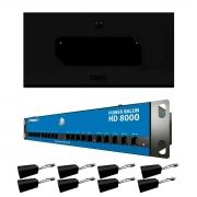 Kit Rack 5U + Power Balun 8Ch HD 8000 + Balun Passivo RJ45 Onix Security, Leva Sinal de Video e Alimentação Através Único Cabo e Fonte Inclusa, Horizontal 19 polegadas