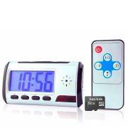 1e9f4c9dd25 Kit Relógio Espião de mesa Mini Câmera Escondida Camuflada + Cartão de  Memória Micro SD 32GB
