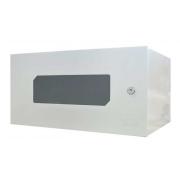 Mini Rack 5u x 350mm Economic Porta C/ Visor Acrílico Branco Max Eletron