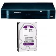 NVR, HVR Stand Alone Intelbras NVD 1208 8 Canais, para Camera IP, OnVif + HD WD Purple 1TB