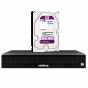 NVR Intelbras 04 Canais Full HD 1080p 6MP NVD 1304 04 Canais + HD  1TB WD Purple