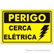 Placa de Advertência para Cerca Elétrica