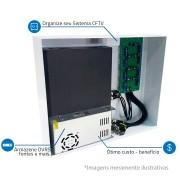 Rack Orion HD 3000 Organizador de Cabos Onix Security Para DVR 16 Canais - Indicado para DVRs Full HD, maior espaço interno