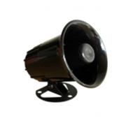 Sirene corneta preta de alta potência, magnética, 12v, 01 tom