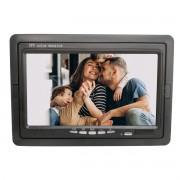 Tela Monitor 7 polegadas LCD Colorido, 2 entradas de vídeo (2 AV-in), para Segurança, Carro, Câmera de Ré