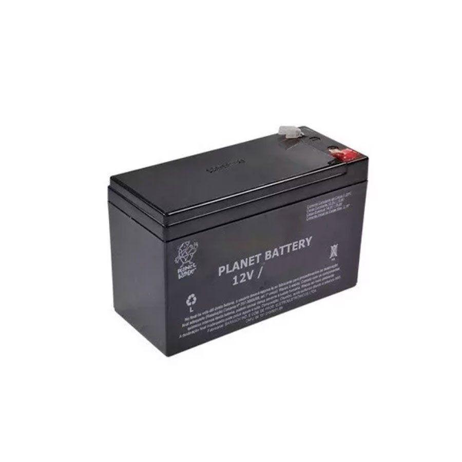 Bateria de Alarme e Cerca Elétrica Planet 12v 1,3AH  - Tudo Forte