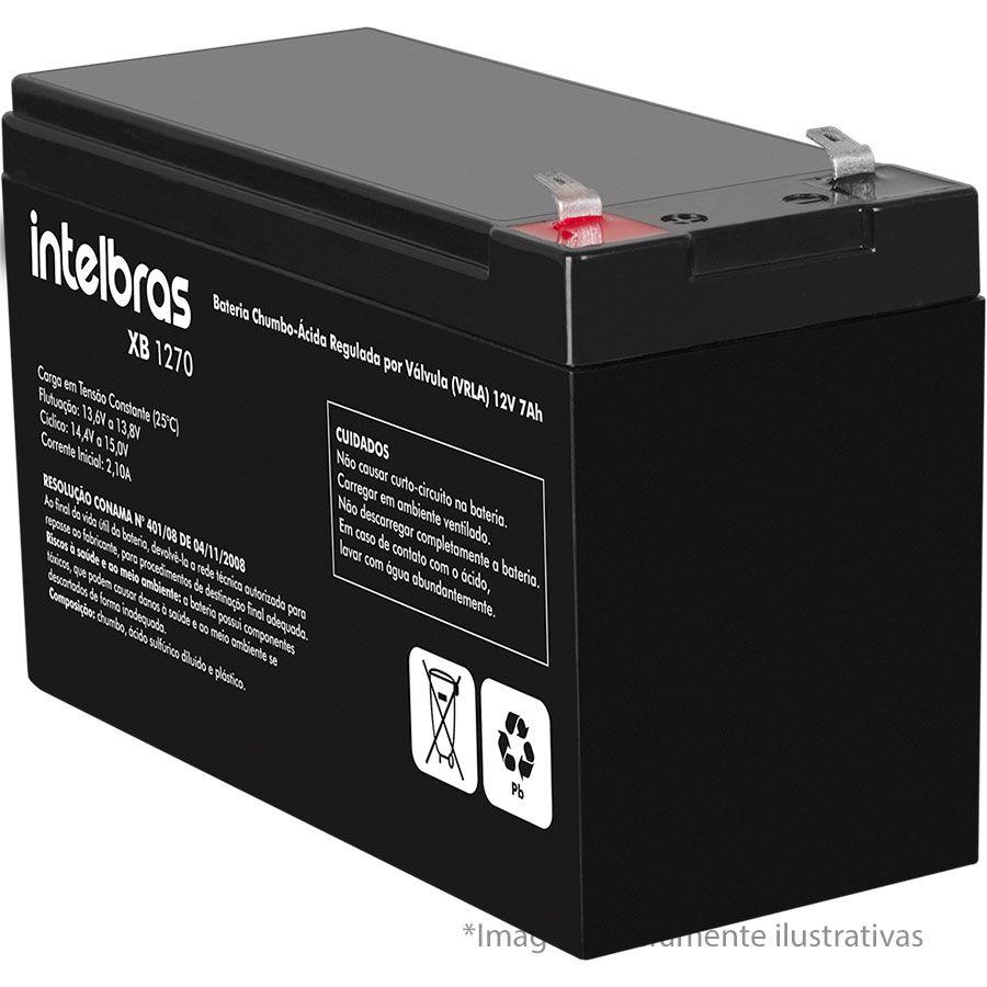 Bateria para Nobreak, Alarme e Cerca Elétrica de Chumbo-ácido Intelbras XB 1270 12v