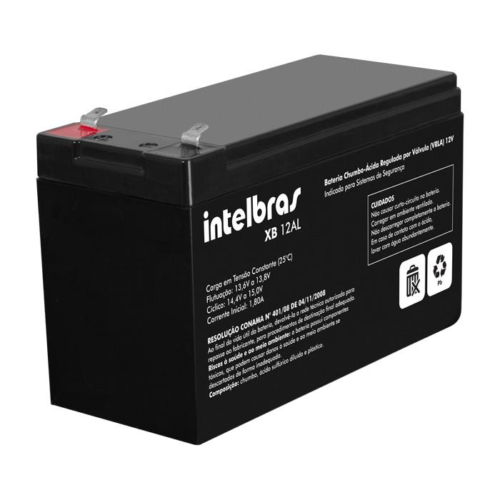 Bateria de Alarme e Cerca Elétrica Intelbras XB 12AL 12v   - Tudo Forte