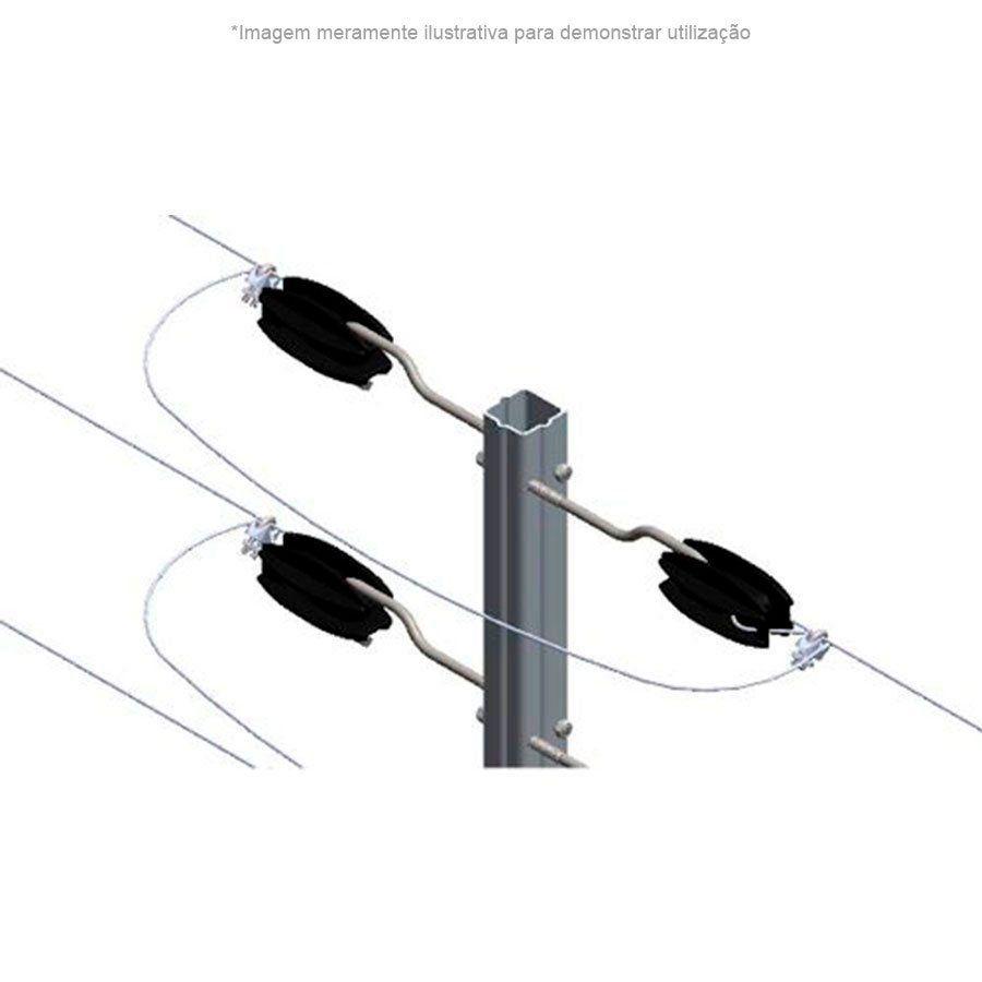 Big Haste Industrial 1 Metro 25x25, 12 Isoladores Castanha para Cerca Elétrica  - Tudo Forte