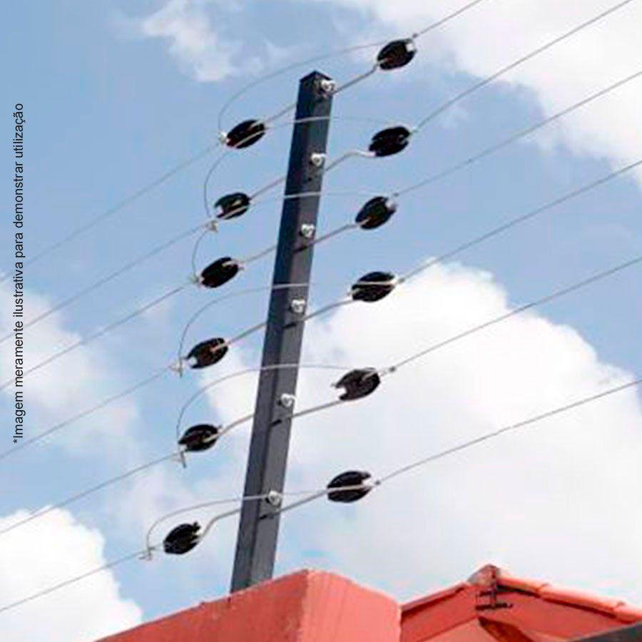 Big Haste Industrial 1 Metro 25x25, 12 Isoladores Castanha para Cerca Elétrica