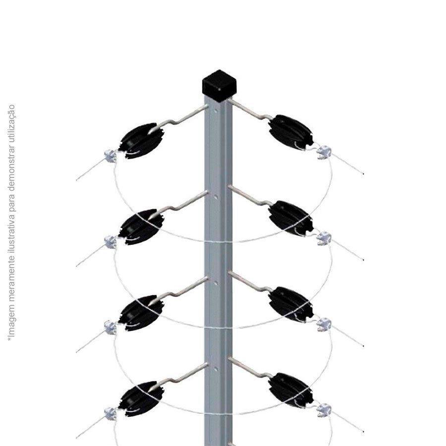 Big Haste Industrial Cantoneira 1 Metro 25x25, 12 Isoladores Castanha para Cerca Elétrica  - Tudo Forte