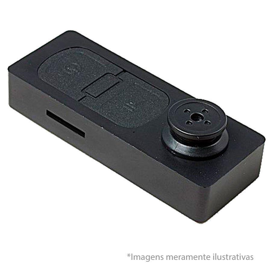 Botão de Camisa Espião Mini Câmera Escondida Camuflada Grava Áudio e Vídeo com e Fotos