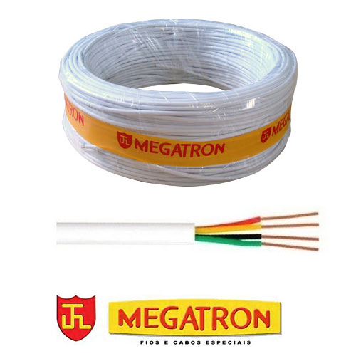 Cabo Telefônico Megatron CCI 50x2 Pares, Rolo 100m, Branco