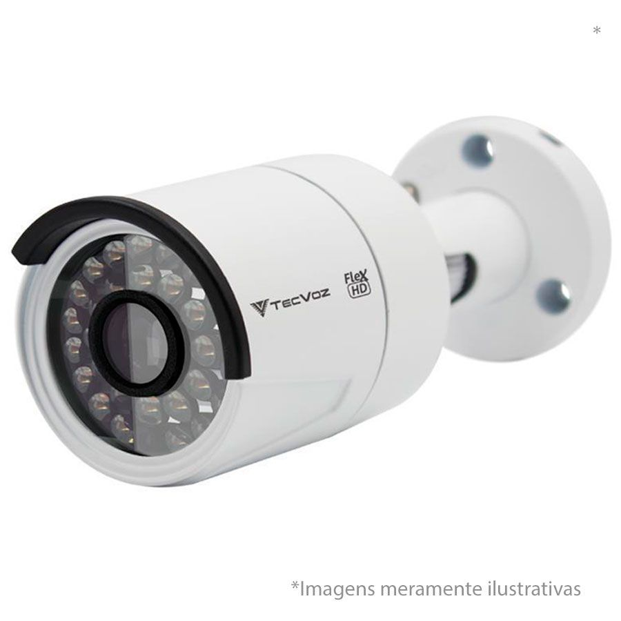 Câmera Bullet Infravermelho Flex 4 em 1 Tecvoz QCB-1028 HD 720p 1.0M - CVBS, AHD, HDCVI, HDTVI (V1), HDTVI (V2)