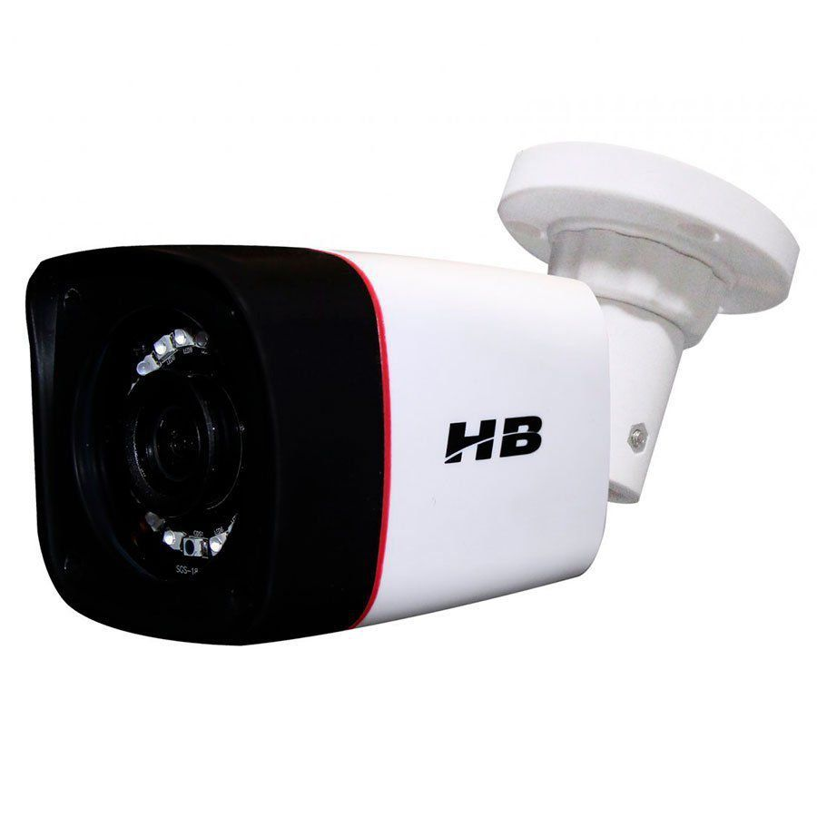 Câmera Bullet Infravermelho Híbrida HB Tech HB-401 HD 720p - Multi HD - HDCVI, HDTVI, AHD, ANALÓGICO  - Tudo Forte