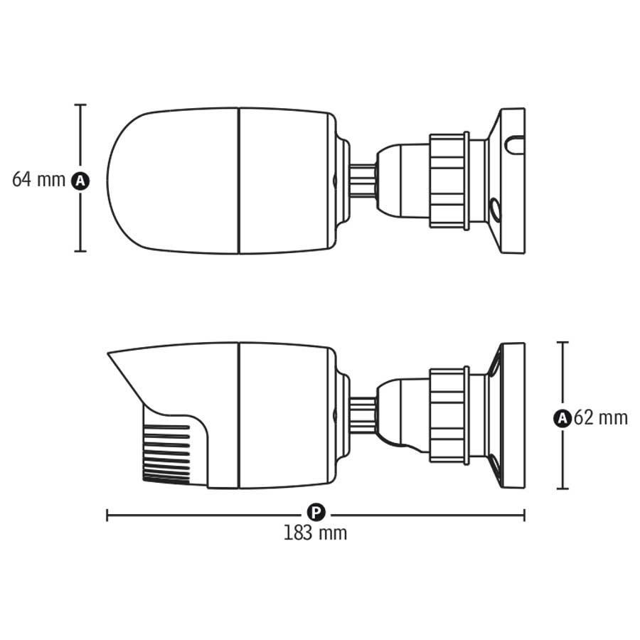 Câmera IP Bullet Infravermelho TW-ICB100 Tecvoz 1.0MP (720p) Lente 3,6mm  - Tudo Forte