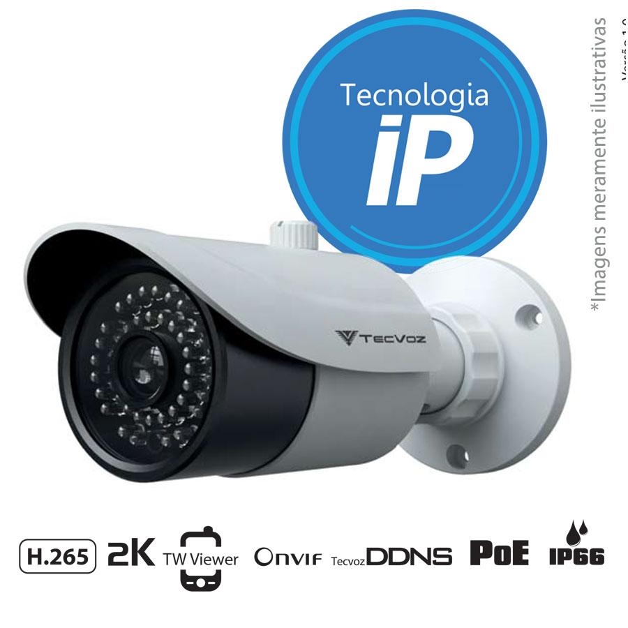 Câmera IP Bullet Infravermelho TW-ICB400 Tecvoz 4.0MP (2k) Lente 3,6mm  - Tudo Forte