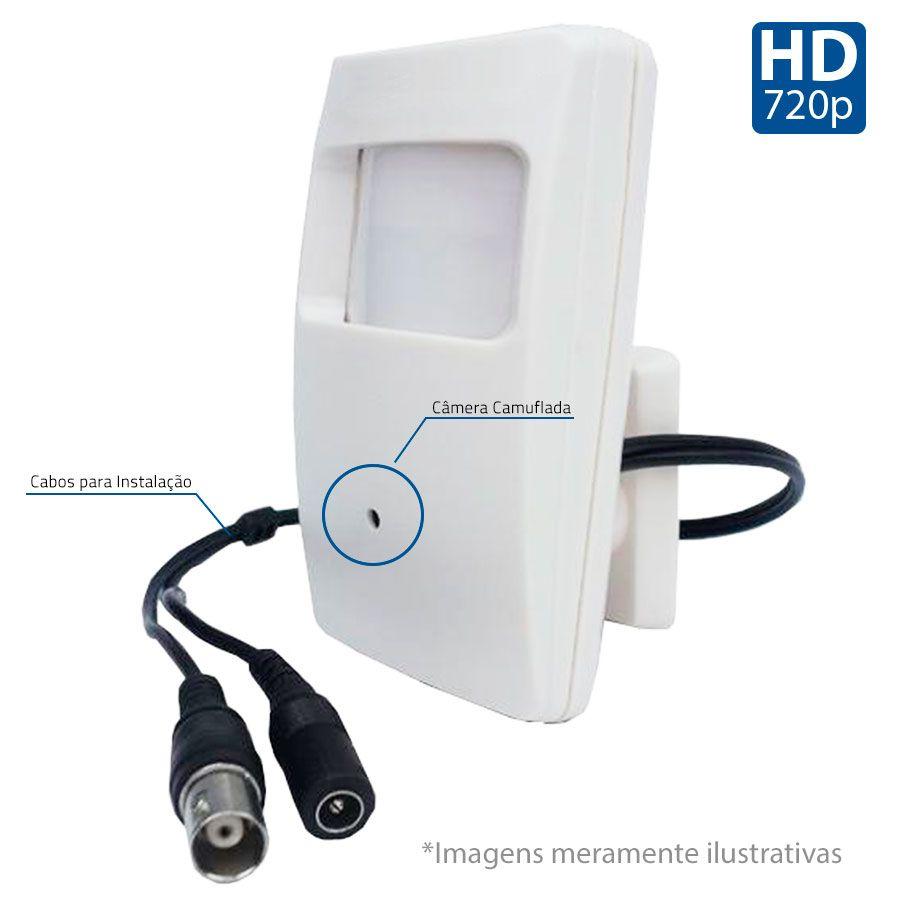 Câmera de Segurança Espião Escondida Camuflada Tipo Sensor de Presença HD 720p - AHD