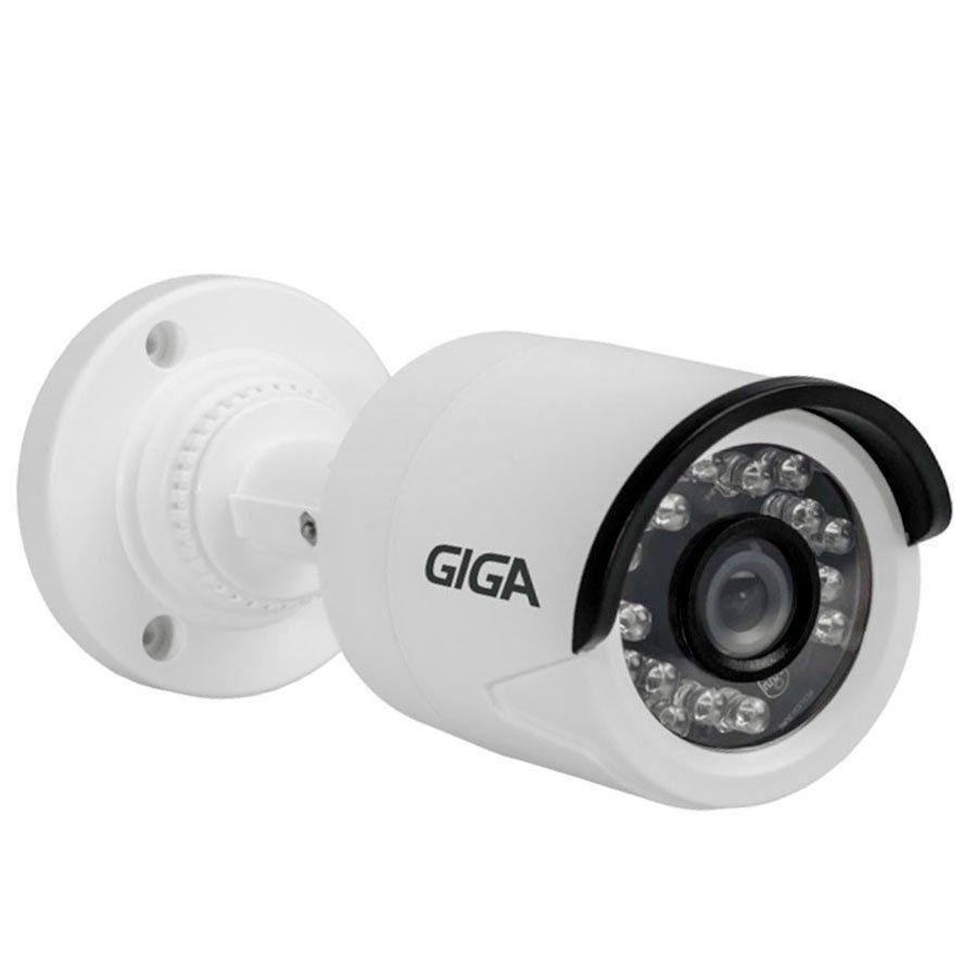 Câmera de Segurança Giga GS0013 - 1MP, HD 720p, Visão Noturna Infra 20 metros - 4 em 1 HDCVI, HDTVI, AHD, CVBS
