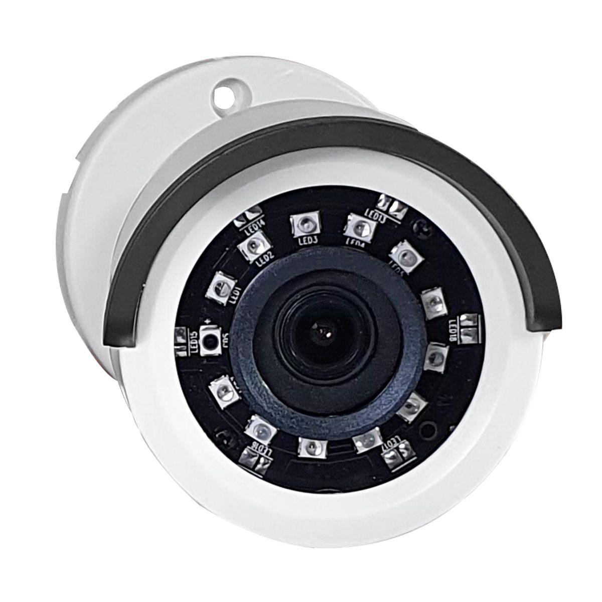 Câmera de Segurança Giga GS0020 Orion - 1MP, HD 720p, Lente 2,6mm, Infra 20 metros - 4 em 1 HDCVI, HDTVI, AHD  - Tudo Forte