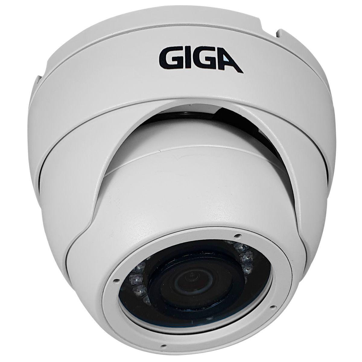 Câmera 5 Megapixels Giga Security GS0046 Orion, Infravermelho 30 metros, 4 em 1 HDCVI, HDTVI, AHD, ANALÓGICO  - Tudo Forte