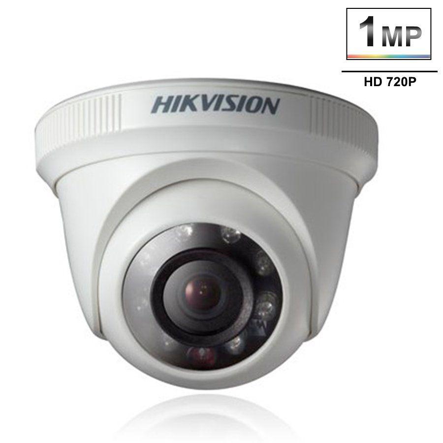 Câmera Hikvision HD 1MP 720p DS-2CE56C0T-IRPF Dome 20 metros  - Tudo Forte
