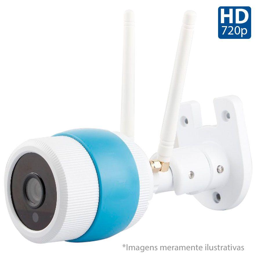 Câmera de Segurança IP Onvif Bullet Sem Fio Wifi Full HD 1080p, Grava em Cartão SD, Visão Noturna, Uso Externo