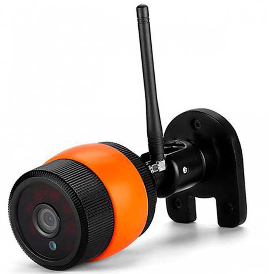 Câmera de Segurança IP Onvif Bullet Sem Fio Wifi Full HD 1080p, Grava em Cartão SD, Visão Noturna, Uso Externo  - Tudo Forte