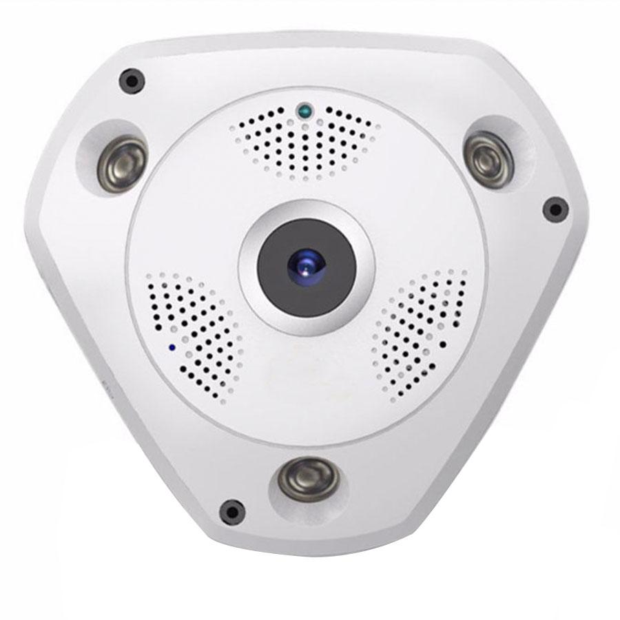 Câmera de Segurança IP Wifi Panorâmica Sem Fio 360º Lente Olho de Peixe FishEye