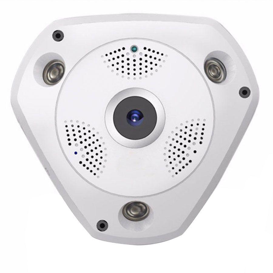 Câmera de Segurança IP Wifi Panorâmica Sem Fio 360º Lente Olho de Peixe FishEye  - Tudo Forte