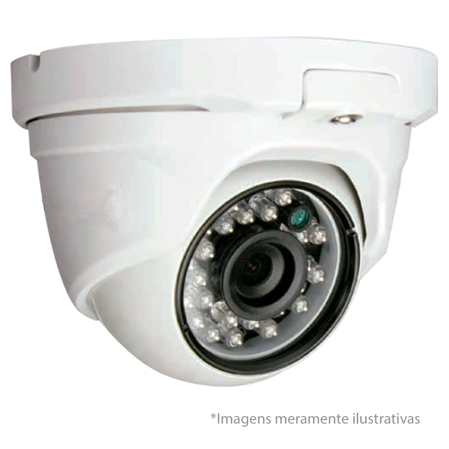 Câmera Dome HD 720p Infravermelho FocusBras FBR FS-PDF1M 2,8mm 25m Visão Noturna - Multi HD: HDCVI + HDTVI + AHD + ANALÓGICO - Similar Intelbras VHD 1120 D
