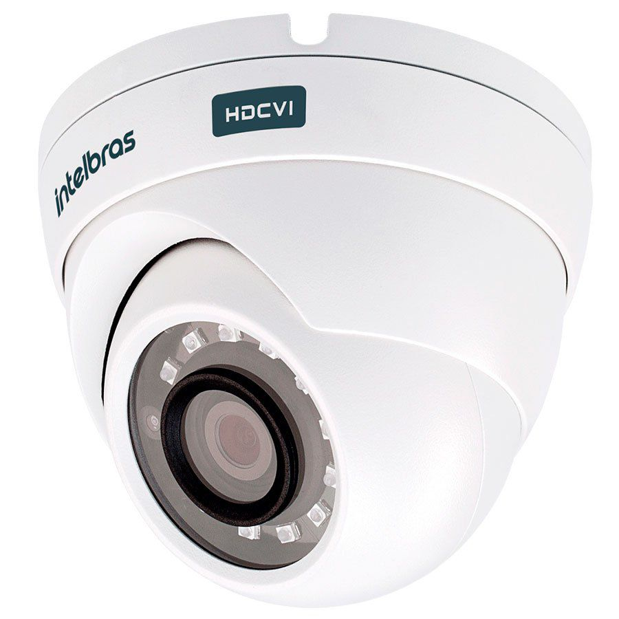 Câmera Dome Infravermelho 4 MP Intelbras VHD 3420 D Ultra HD 2K HDCVI