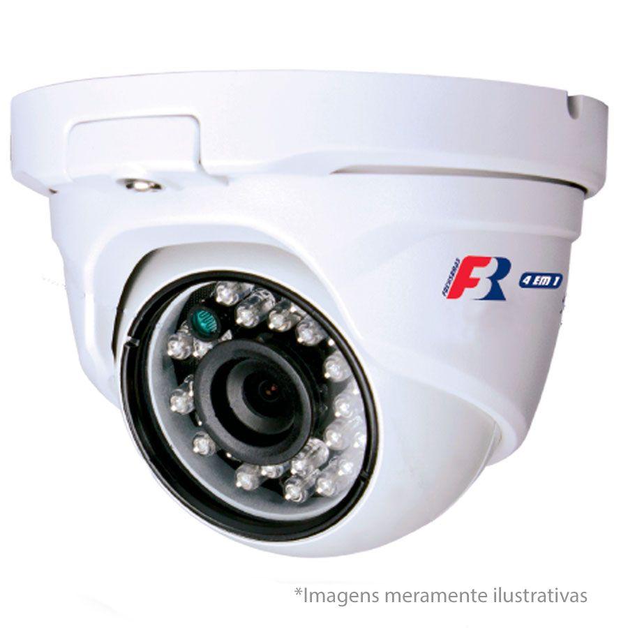 Câmera Dome Full HD 1080p Infravermelho Focusbras FBR FS-MDF2M 2,8mm 25m Visão Noturna - Multi HD: HDCVI + HDTVI + AHD + ANALÓGICO - Similar Intelbras VHD 1220 D  - Tudo Forte
