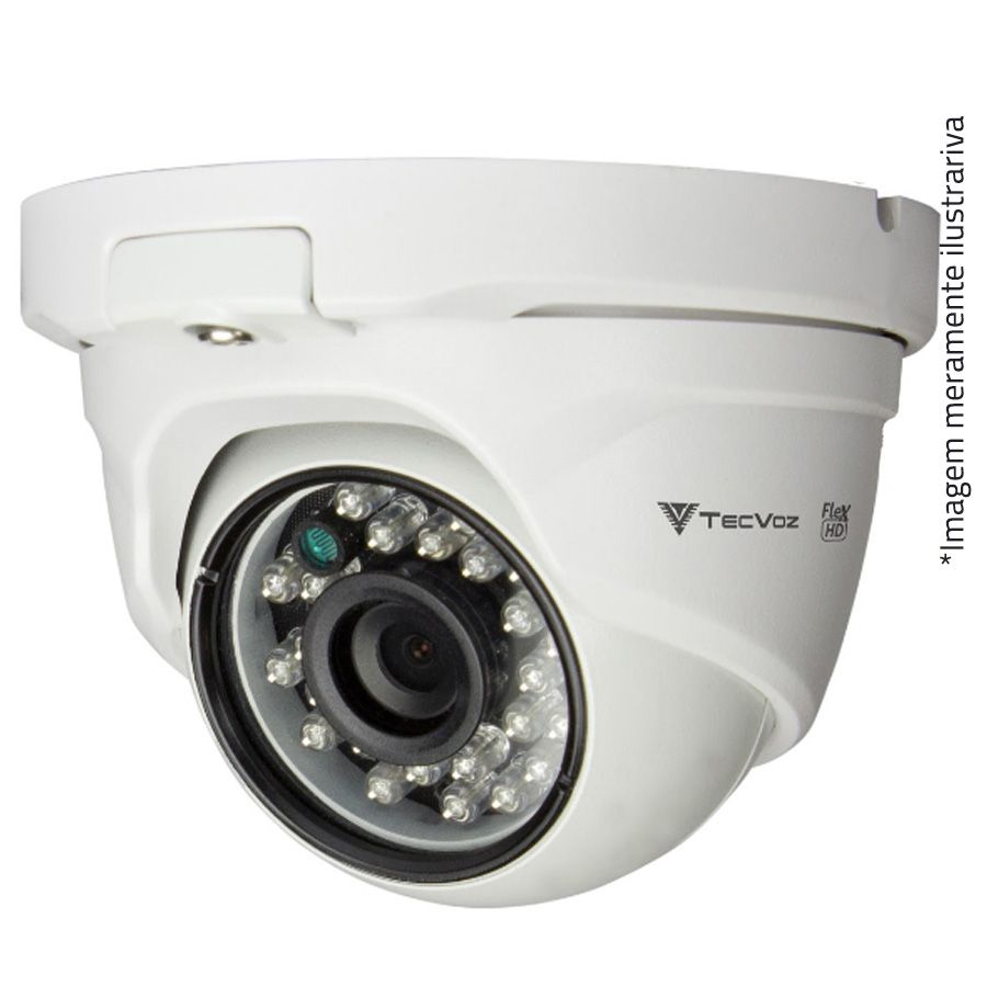 Câmera Dome Infravermelho Flex 4 em 1 Tecvoz QDM-228 HD 1080p 2.0M - CVBS, AHD, HDCVI, HDTVI